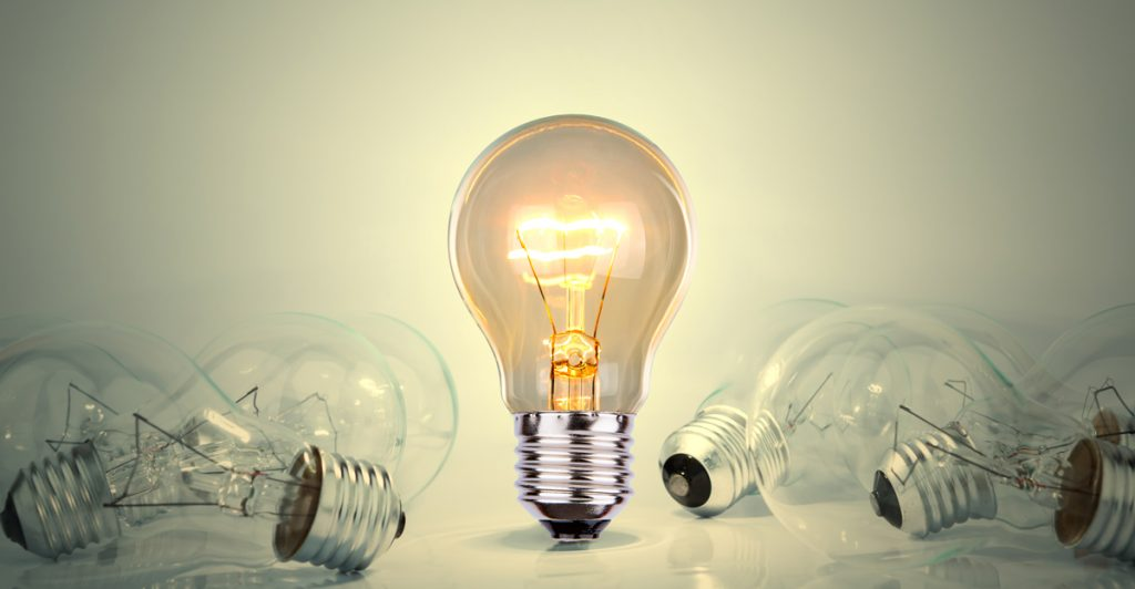 Light bulb lamps.