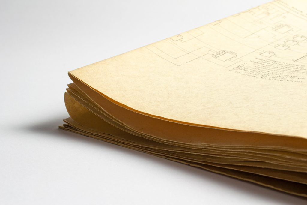 Scheme printed on old vintage paper.